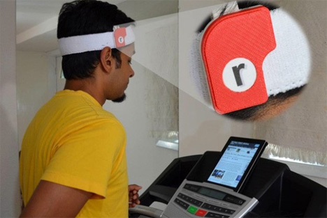 read on mobile device while running or jogging