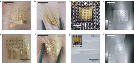 skin adhering temperature sensor