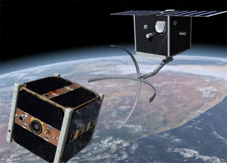 cleanspace one cleaning satellite