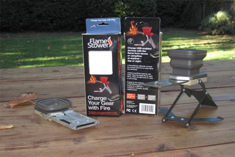 fire-powered phone charger