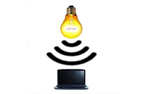 li-fi wireless internet light bulb