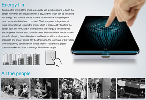liteon energy touch screen film