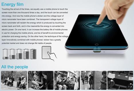 liteon energy touch screen film