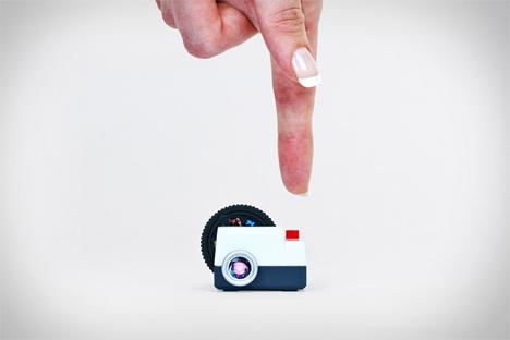 miniature slideshow projector