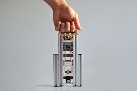 portable folding 3D printer