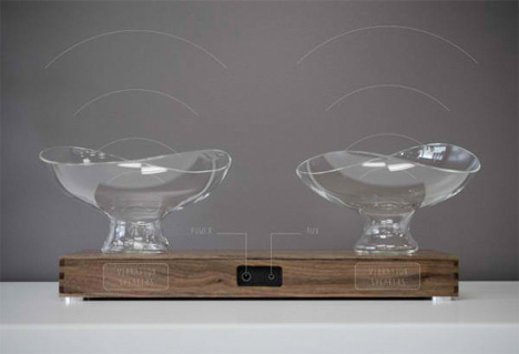 stylish glass bowl speakers