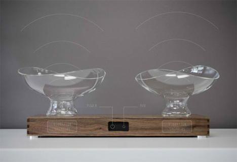 stylish glass bowl speakers