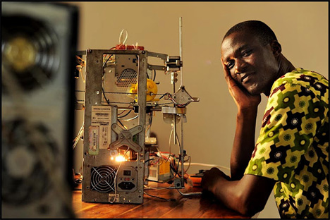 west african inventor cheap 3d printer