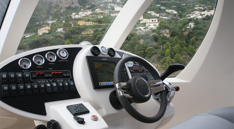 cockpit controls lazzarini mini yacht