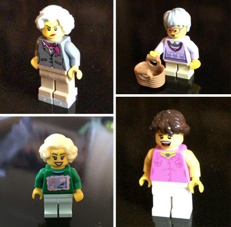 golden girls LEGO minifigs