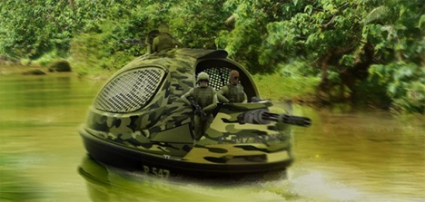 jet capsule mini yacht military style