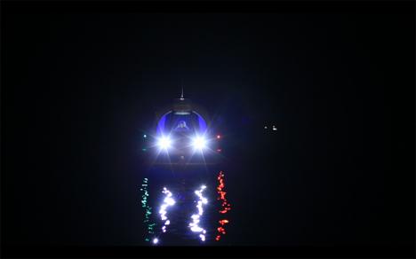 lazzarini mini yacht night LEDs