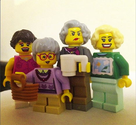 nerdy golden girls minifig brick people