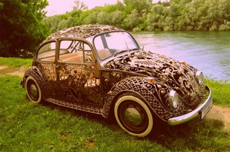 see through wrought iron VW beetle