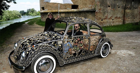 wrought iron volkswagen