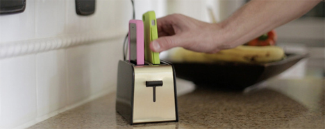 kitchen iphone charger toaster shaped