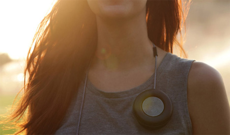 monocle wearable speaker