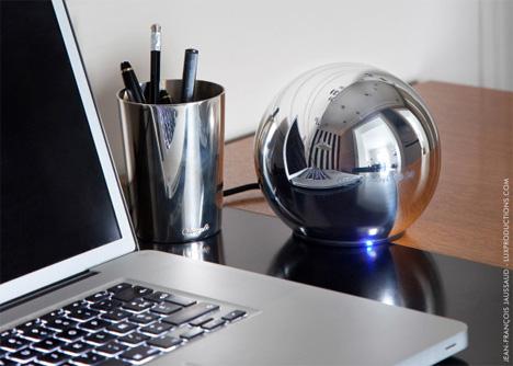 futuristic sphere hard drive