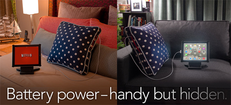gadget recharging pillow