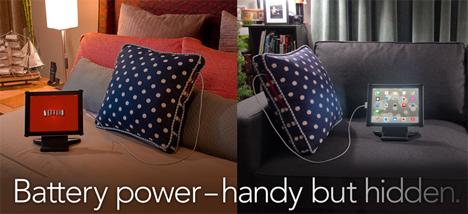 gadget recharging pillow