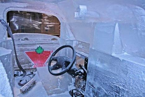 ice truck interior