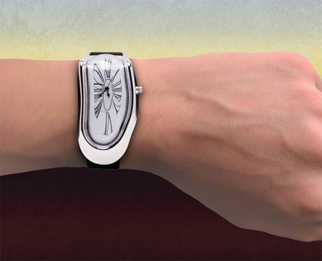 melting clock watch