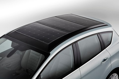 solar powered hybrid ford car