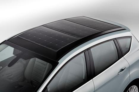 solar powered hybrid ford car