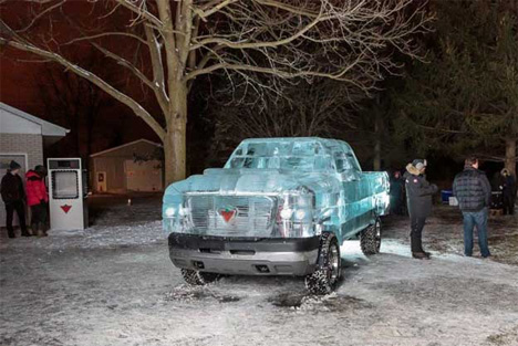 truck made of ice