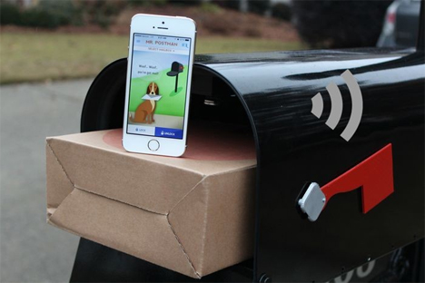 wi-fi equipped mailbox