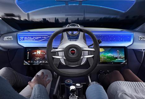 car concept autonomous tesla car