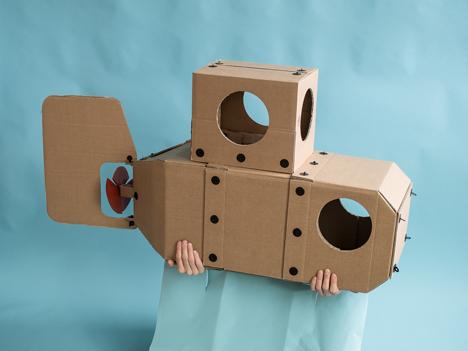 cardboard submarine