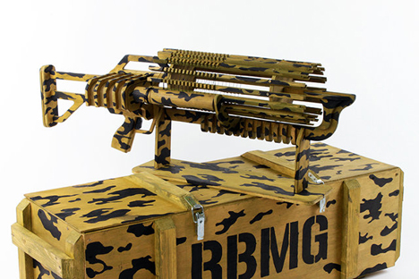 Rule The Office With This Gatling Style Rubber Band Gun
