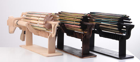 Rule the Office With This Gatling-Style Rubber Band Gun