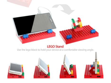 lego power brick phone stand