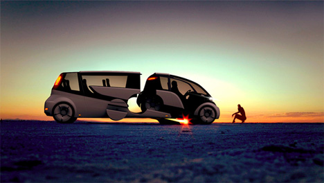vehicle converts from van to car