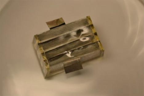 biodegradable dissolving battery