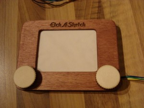 etch a sketch controller for laser cutter