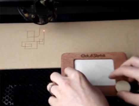 etch a sketch laser cutter