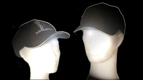 face obscuring baseball cap