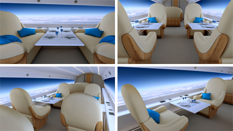 interior supersonic windowless jet
