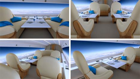 interior supersonic windowless jet