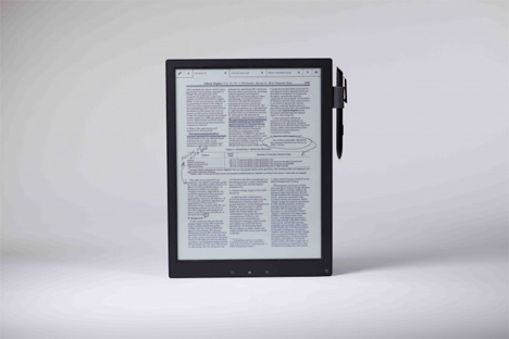 lightweight e-ink sony tablet