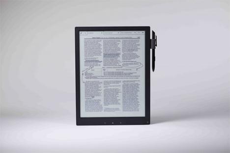 lightweight e-ink sony tablet