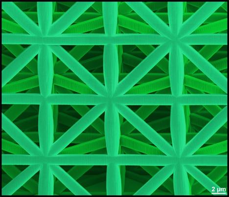 microscopic honeycomb inspired polymer