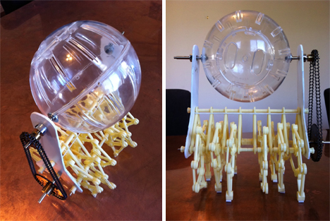 modified strandbeest hamster powered