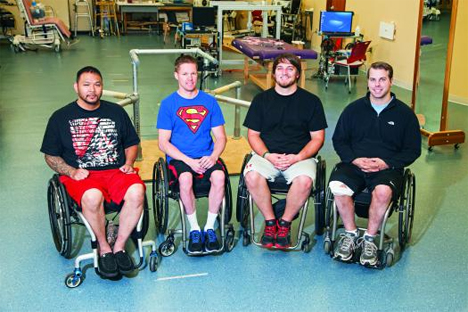 paraplegics move legs with nerve stimulation implants