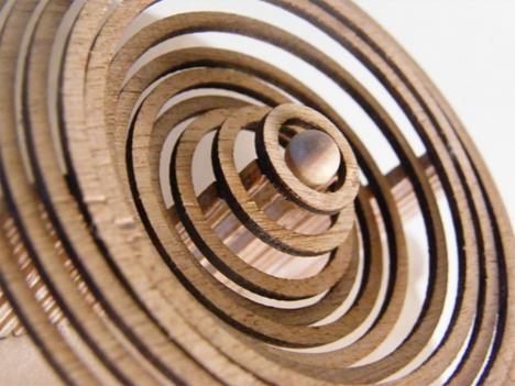 Hypnotizing Automaton Replicates Water Droplet Ripples