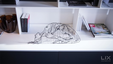 sculpture drawn with 3d printing pen