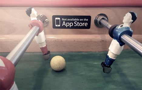 foosball table not available on app store